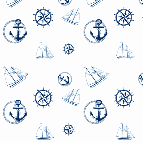 Anchors Aweigh fabric by ravynscache on Spoonflower - custom fabric
