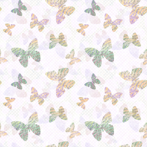 rainbow butterfly fabric by keweenawchris on Spoonflower - custom fabric
