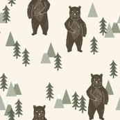 forest bear // brown cream green outdoors boys kids