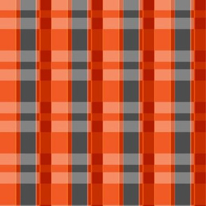 Plaid Lumberjack - Orange and Charcoal