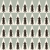 trees // forest woodland camping triangles boys room outdoors