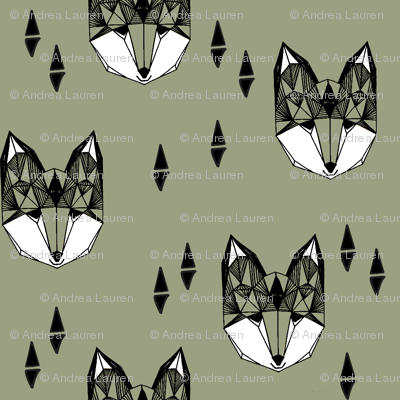 fox // geometric fox head kids nursery baby boys kids clothes boys trendy fabric for baby boy nursery