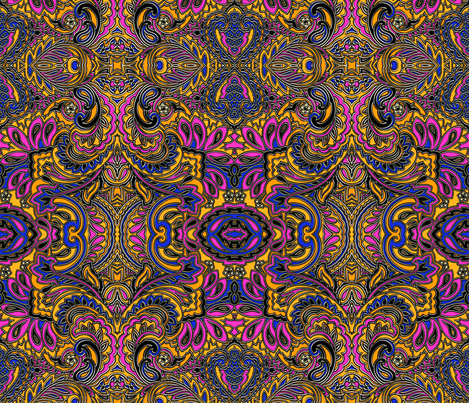 3D paisley fabric by whimzwhirled on Spoonflower - custom fabric