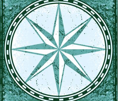 sea map star fabric by keweenawchris on Spoonflower - custom fabric
