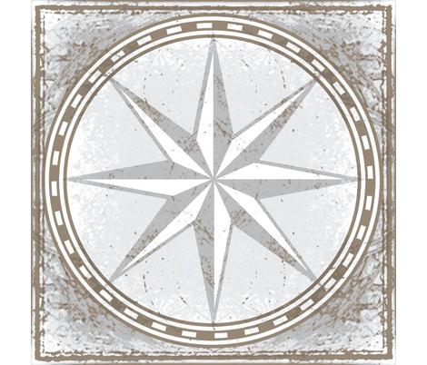 land map star fabric by keweenawchris on Spoonflower - custom fabric