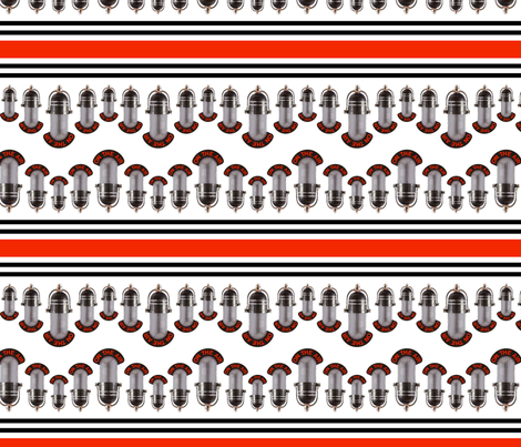 On_The_Air_Microphones_seamless_repeat fabric by bluewrendesigns on Spoonflower - custom fabric