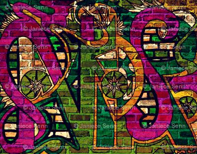 Faux Graffiti Wall