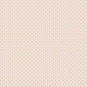 Dottie cream with blue