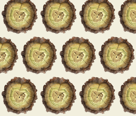 mossy logs natural fabric by gollybard on Spoonflower - custom fabric