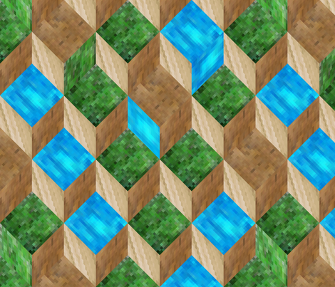 8-Bit Cubes fabric by volkstricken on Spoonflower - custom fabric