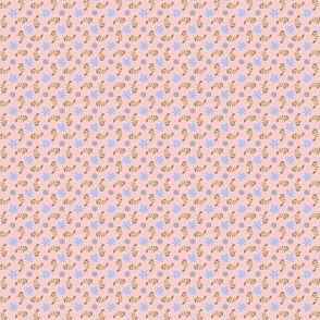 Formal floral pink with blue