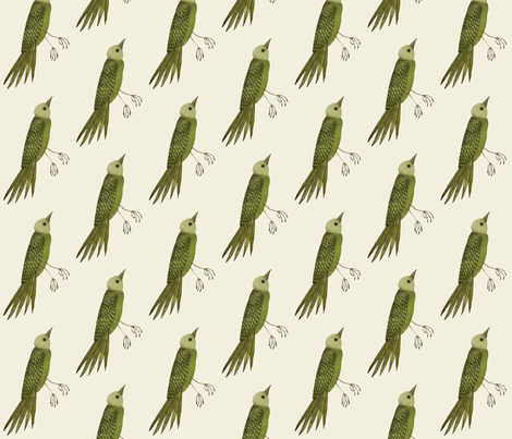 songbird east natural fabric by gollybard on Spoonflower - custom fabric