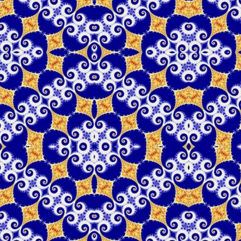 Tilting Surprise White Horns on Blue Egg fabric by clotilda_warhammer on Spoonflower - custom fabric