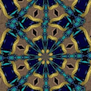 Kaleidescope 3675 k5 yellow, electric blue, aqua