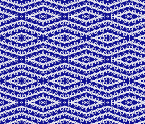 Tilting Blue Waves of Fractal fabric by clotilda_warhammer on Spoonflower - custom fabric