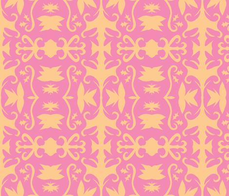 Evangeline blush fabric by erin_mcclain_studio on Spoonflower - custom fabric