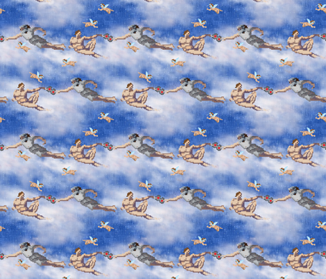In the beginning there was 8-bit fabric by vo_aka_virginiao on Spoonflower - custom fabric