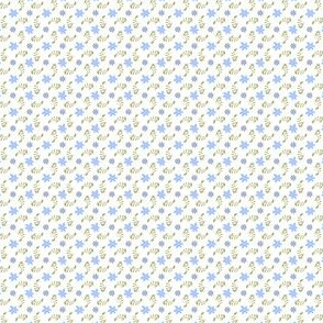 Formal floral white with blue
