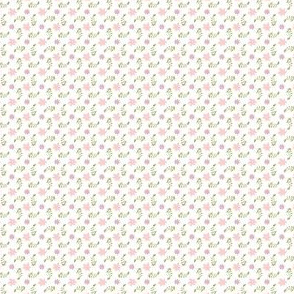 Formal floral white with pink