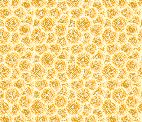 Honey Floral White fabric by nikijin on Spoonflower - custom fabric