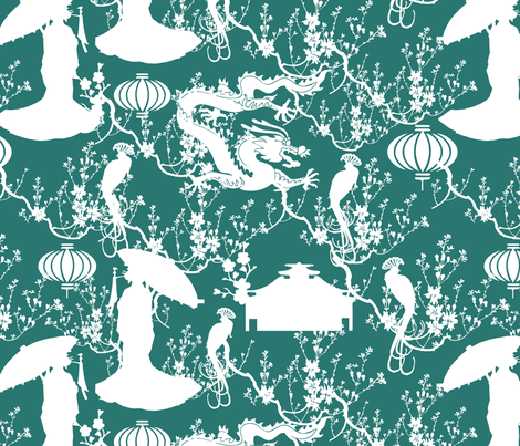 geisha fabric by kociara on Spoonflower - custom fabric