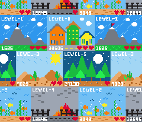 Just One More Level fabric by bojudesigns on Spoonflower - custom fabric