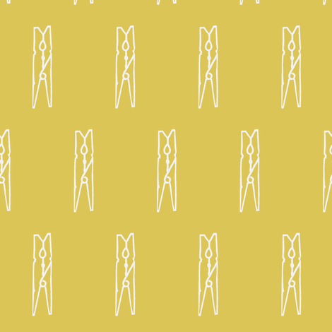 clothespins in the sunshine fabric by ali*b on Spoonflower - custom fabric