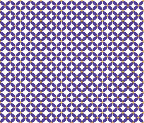 LSU Fleur de Lis Circle 2 fabric by writefullysew on Spoonflower - custom fabric