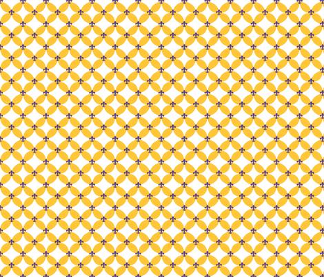 LSU Fleur de Lis Circle fabric by writefullysew on Spoonflower - custom fabric