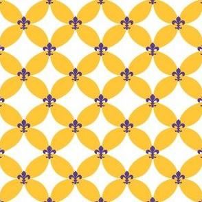 LSU Fleur de Lis Circle