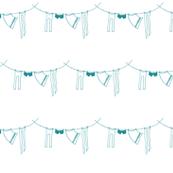hanging laundry-turquoise blue