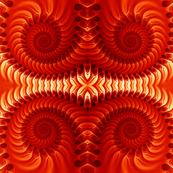 Orange Spirals Seamless