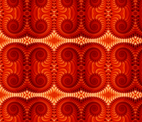Orange Spirals Seamless fabric by bluewrendesigns on Spoonflower - custom fabric