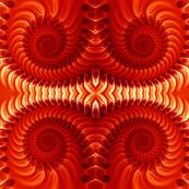 Orange Spirals Seamless