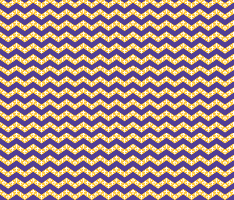 LSU Chevron 2 fabric by writefullysew on Spoonflower - custom fabric