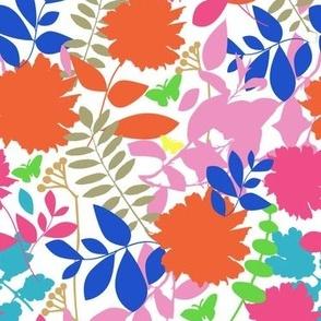 Retro Floral Scatter Pink
