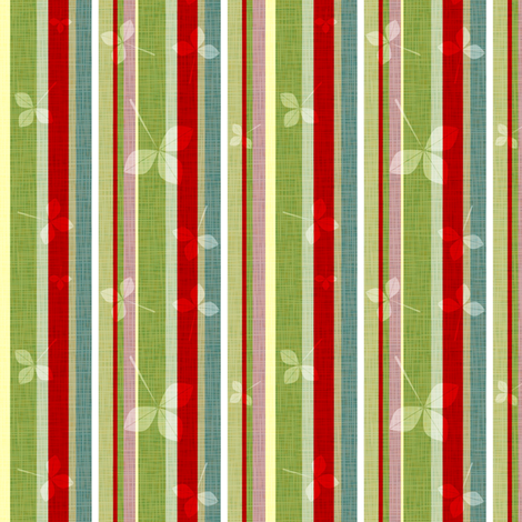 Firestripes and foliage fabric by mulberry_tree on Spoonflower - custom fabric