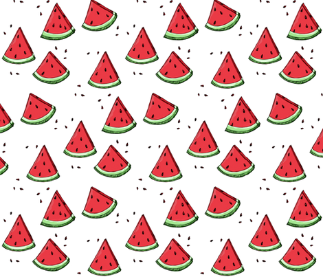 Watermelon scatter fabric by mulberry_tree on Spoonflower - custom fabric