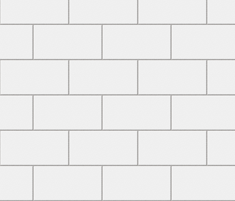 subway tile - white fabric by glimmericks on Spoonflower - custom fabric