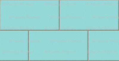 subway tile - robins egg blue