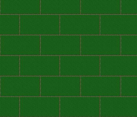 Subway Tile Sherwood Forest Green Fabric Glimmericks