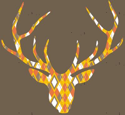 Deerhead Orange Argyle