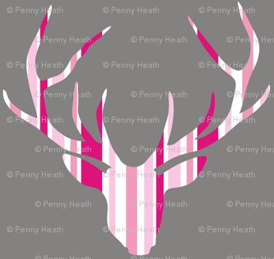 Deerhead Pink Stripes