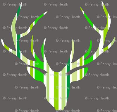 Deerhead Green Stripes