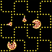 8 bit pizza black