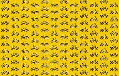 Medium Joy Ride! in yellow and black fabric by sandeeroyalty on Spoonflower - custom fabric