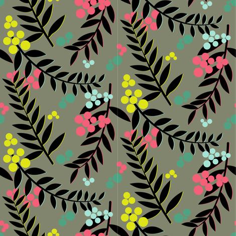 Raquelle Dark fabric by candyjoyce on Spoonflower - custom fabric