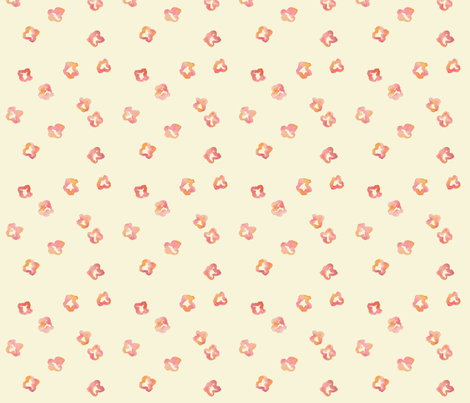 Crimson flowers fabric by feliciadavidsson on Spoonflower - custom fabric