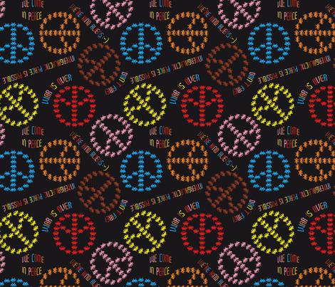 kind Invaders (Black) fabric by vannina on Spoonflower - custom fabric
