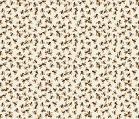 honeybees natural fabric by gollybard on Spoonflower - custom fabric